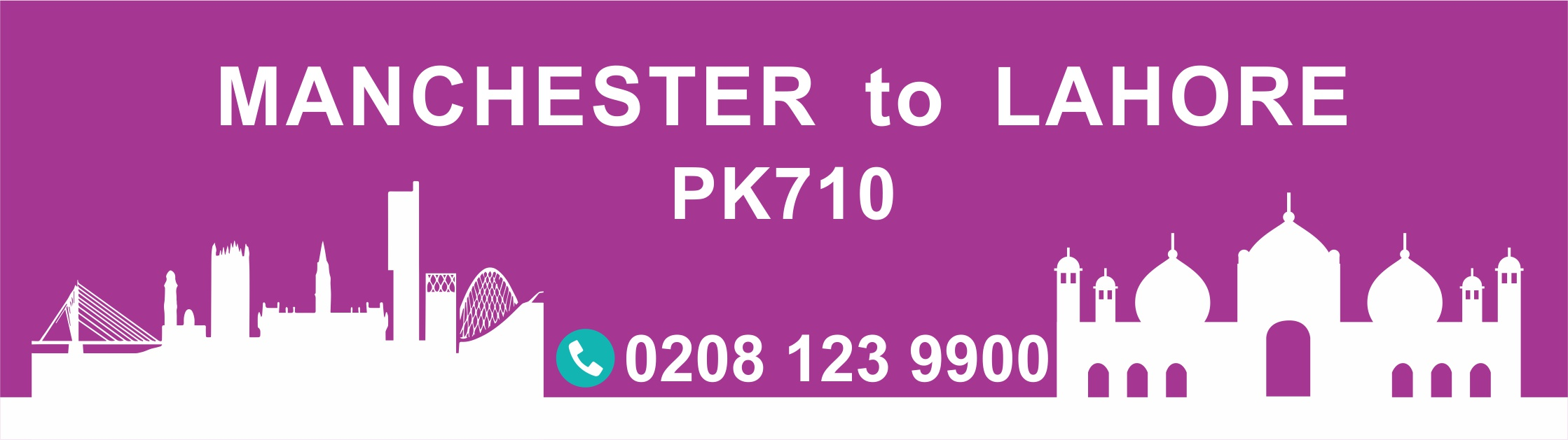 Manchester to Lahore PIA Flight PK710 Departure Time