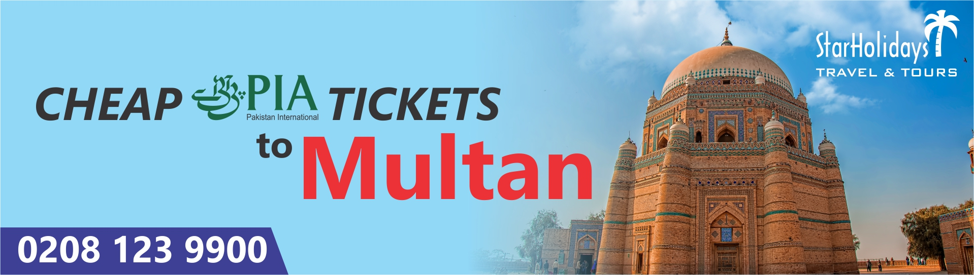 Cheap PIA Tickets to Multan