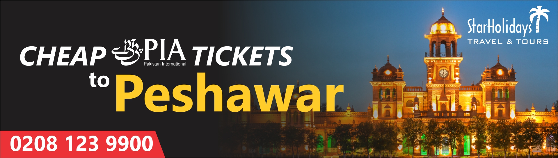 Cheap PIA Tickets to Peshawar